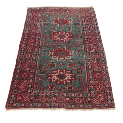 3'4 x 5'4 Hand-Knotted Caucasian Akstafa Pictorial Wool Rug