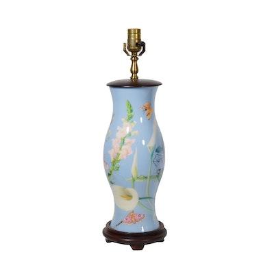 San Pacific Painted Metal Table Lamp
