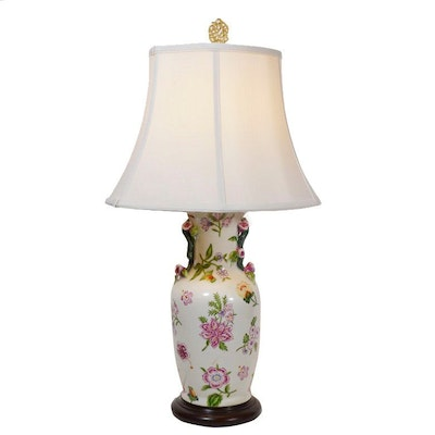 Wildwood Painted Urn-Shaped Table Lamp, Late 20th Century
