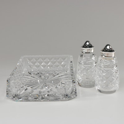 "Waterford Crystal ""Lismore,"" ""Glandore,"" and ""Alana"" Table Accessories"