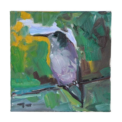 "Jose Trujillo Oil Painting ""Morning Song"""