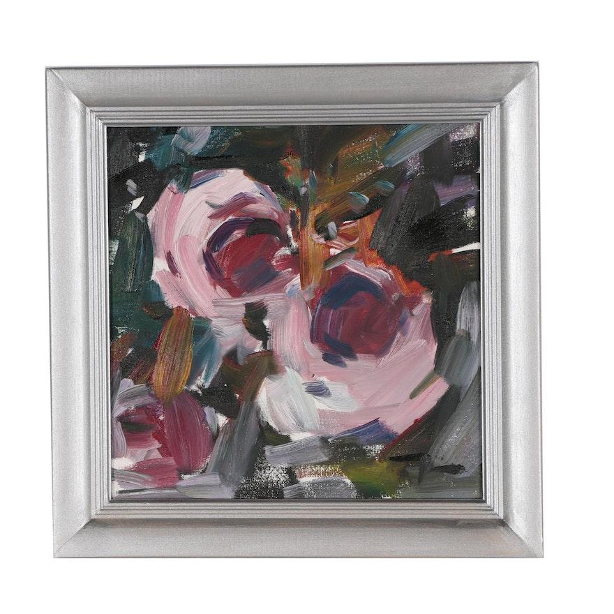 "Jose Trujillo Oil Painting ""Roses"""