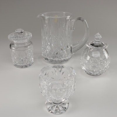 """Waterford Crystal """"Lismore"""" Pitcher and Honey Pot and More"""