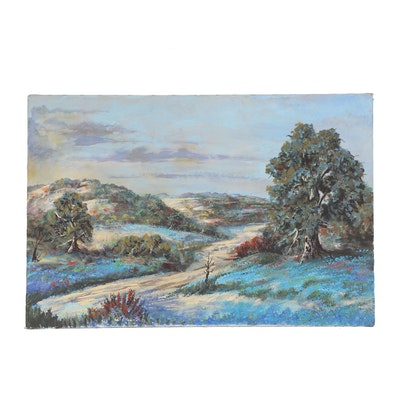 Cecil R Young Jr. Landscape Oil Painting