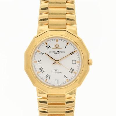 Baume & Mercier Riviera 18K Gold Quartz Wristwatch