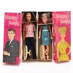 "Ideal ""Tammy's Family"" Mom and Dad Dolls in Original Packaging, 1963"