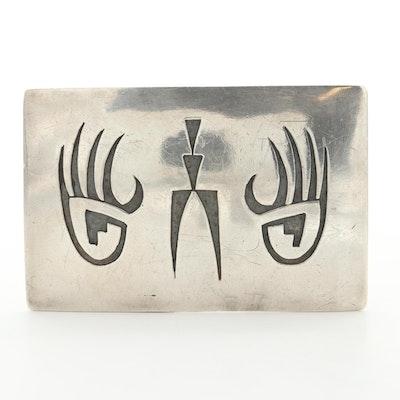 Southwestern Style Sterling Silver Belt Buckle