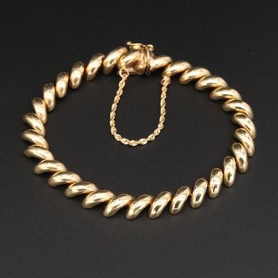 14K Yellow Gold San Marco Chain Bracelet