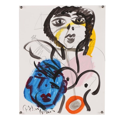 Peter Keil Mixed Media Painting
