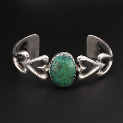 Arthur J. Williams Navajo Diné Sterling Silver Sandcast Cuff Bracelet