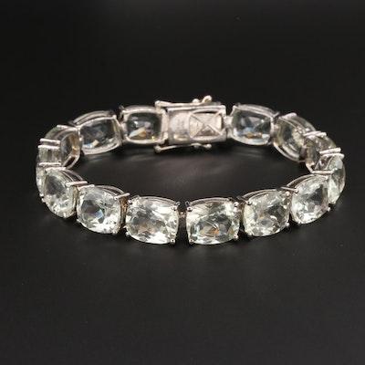 Sterling Silver Prasiolite Bracelet