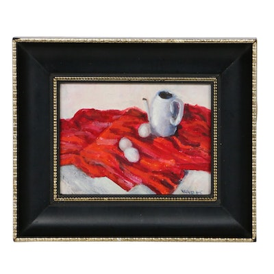 Miniature Still Life Oil Painting