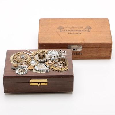 Allegro Adornments by Nancy Runyon-Yost Jewelry Box and HPGCC Cigar Box