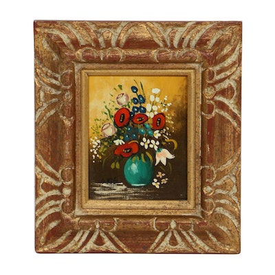 A. Kis Floral Still Life Oil Painting