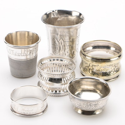 Sterling, 875 Silver, and Silver Plate Table Accessories