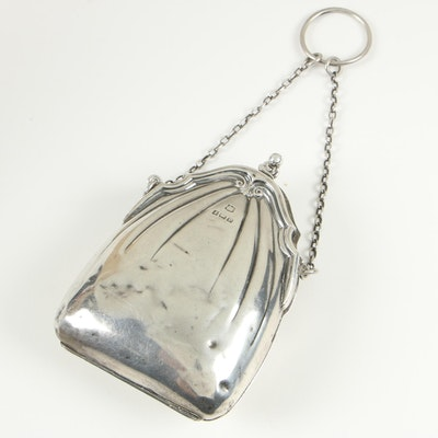 Boots Pure Drug Co. of Birmingham Sterling Silver Finger Chatelaine Purse, 1914
