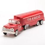 Buddy L Pressed Steel Texaco Oil Semi Truck with Trailer, Early 1960s
