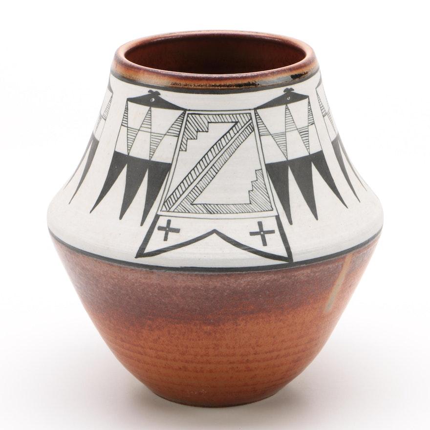 Native American Santa Clara Pueblo Ceramic Pot, 1983