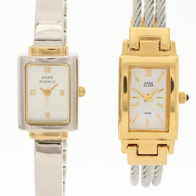 Pair of Anne Klein Two Tone Quartz Wristwatches