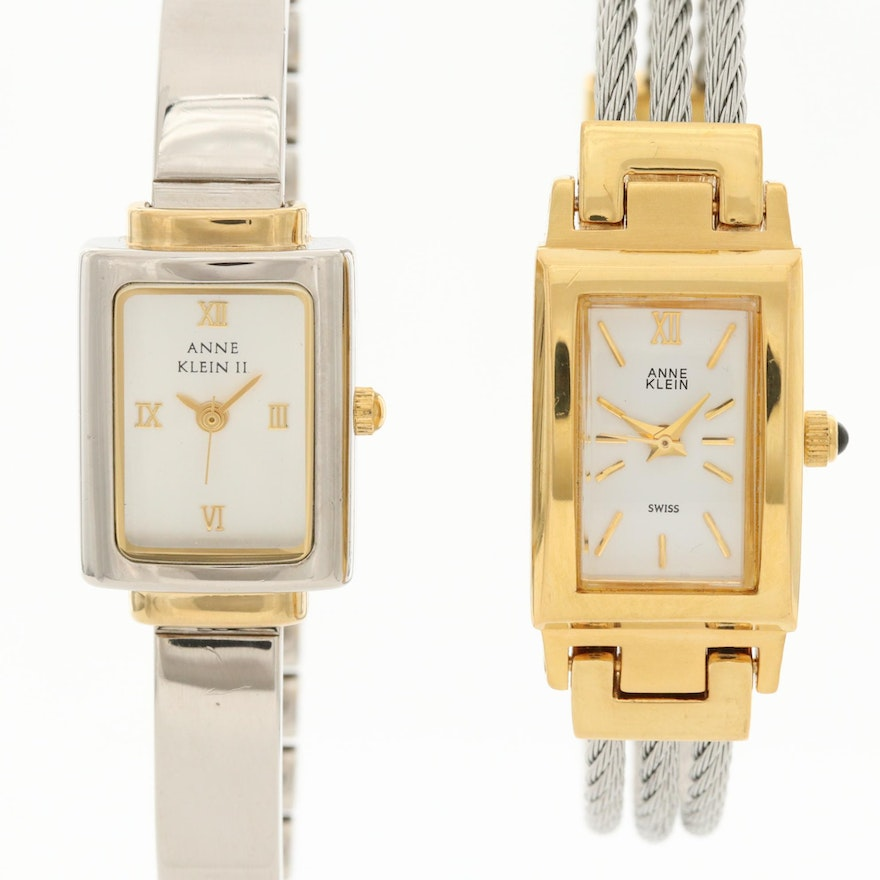 Pair of Anne Klein Two Tone Quartz Wristwatches
