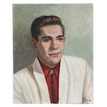 Tula Piatt Portrait of Man Oil Painting, 1957