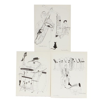 Jazz Musician Lithographs after David Stone Martin