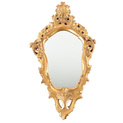 Borghese Rococo Style Gilt Gesso Wall Accent Mirror