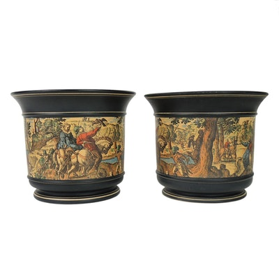 Italian Koscherak Brothers Ceramic Wine Buckets
