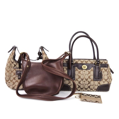 Coach Janice Legacy Bag, Hampton Signature Carryall, Signature Hobo and Wallet