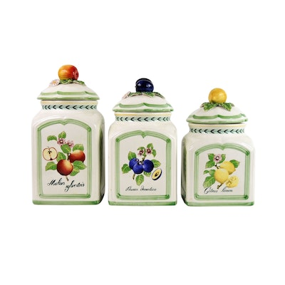 """Villeroy & Boch """"French Garden Charm"""" Covered Canisters"""