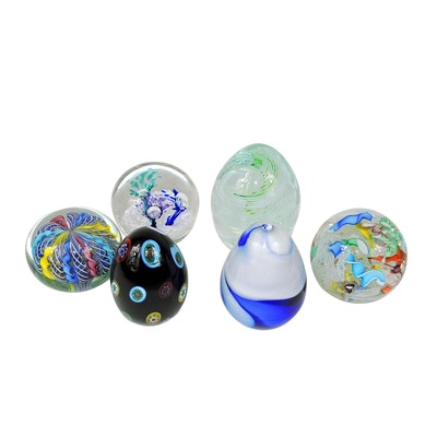 Murano and Other Art Glass Paperweights, Mid to Late 20th Century