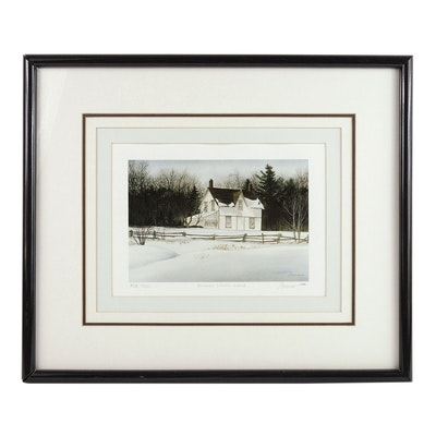"John Morrow Offset Lithograph ""Snowy Linen Land"""