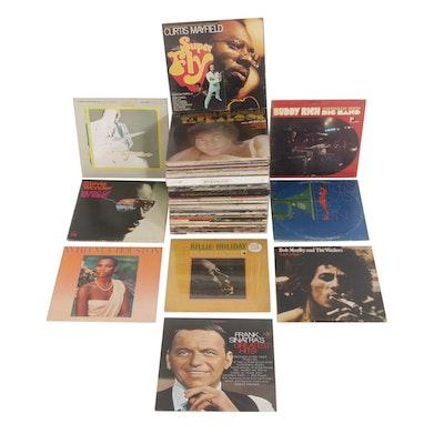 Vinyl Records Featuring Bob Marley, Frank Sinatra, Stevie Wonder, Miles Davis