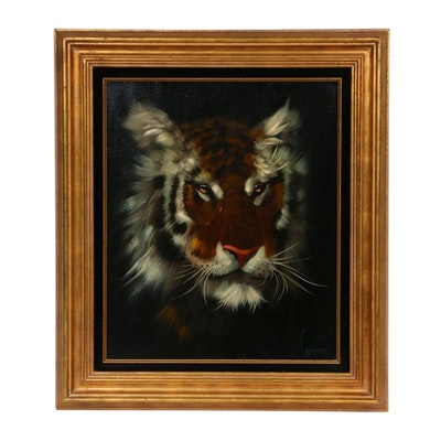 Portrait of Tiger Oil Painting