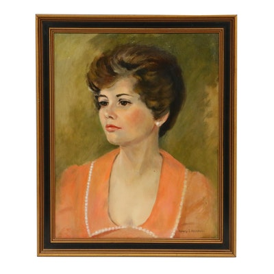 Nancy S. Heiskell Female Portrait Oil Painting