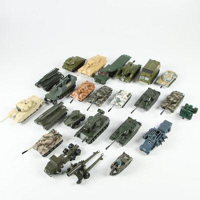 Diecast Military Vehicles Including Dinky, Corgi, Solida and Polistil, Vintage