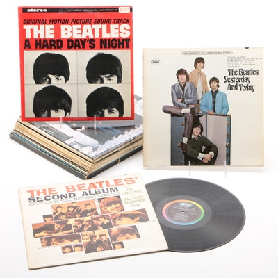 """The Beatles Records Including """"A Hard Days Night"""" and """"Yesterday and Today"""""""