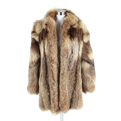 Tanuki Fur Stroller Coat from Victor Furs of Highland Park, Illinois
