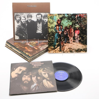 Rock and Country Records Including Creedence Clearwater Revival and The Band
