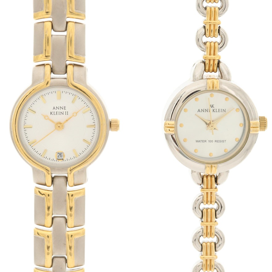 Anne Klein Two-Tone Quartz Wristwatches