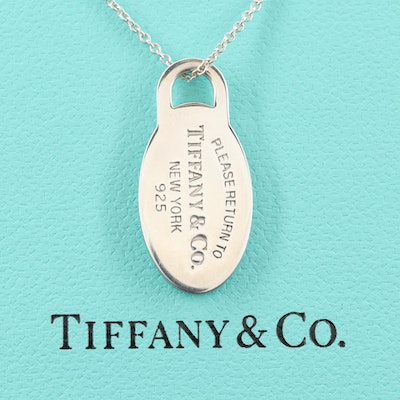 "Tiffany & Co. ""Return to Tiffany"" Sterling Silver Pendant Necklace"