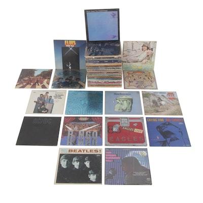 Classic Rock Vinyl Records Featuring Doors, Beatles, Grateful Dead, Elvis