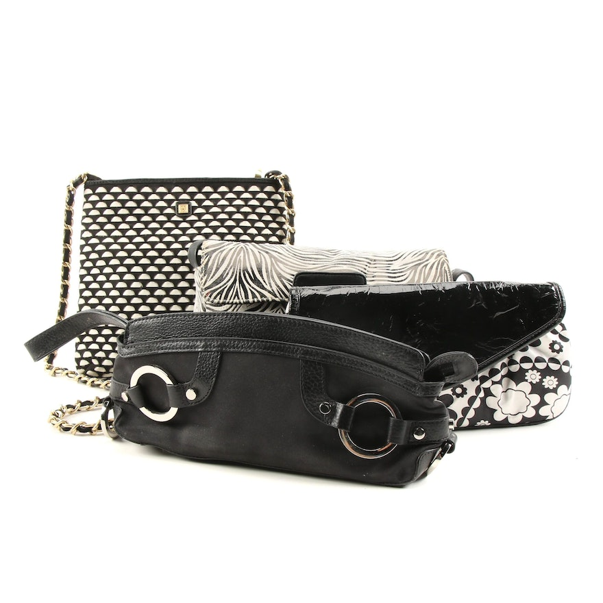 Cee Klein and Other Black and White Shoulder Bags and Clutches