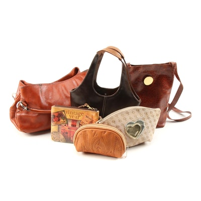 Hype Brown Leather Satchel with Other Bags and Pouches Including Tooled Leather