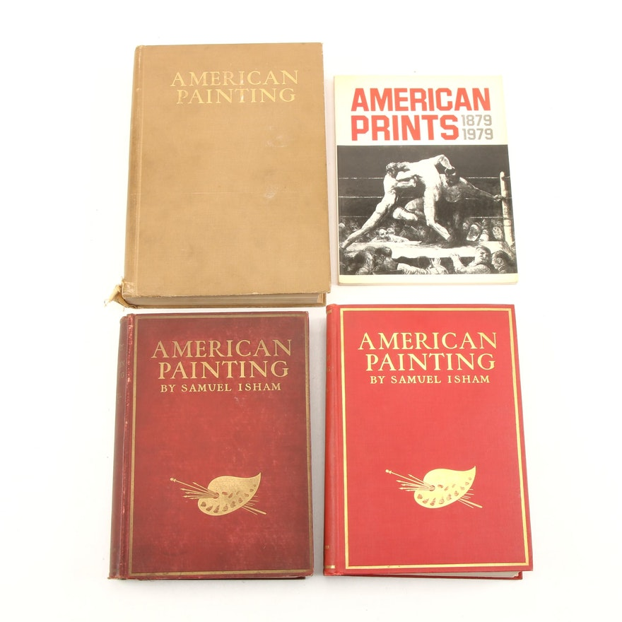 """""""The History of American Painting"""" by S. Isham and """"American Prints"""" by F. Carey"""