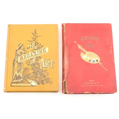 "Antique ""Goupil's Paris Salon of 1896"" and ""The Magazine of Art"""