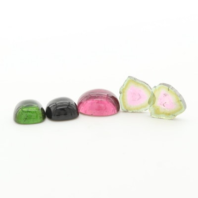 Loose 18.43 CTW Pink, Green and Watermelon Tourmaline Gemstones