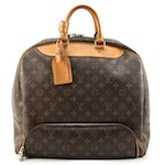 Louis Vuitton Evasion Travel Bag in Monogram Coated Canvas and Leather
