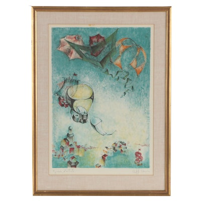 Raffi Kaiser Surrealist Color Lithograph