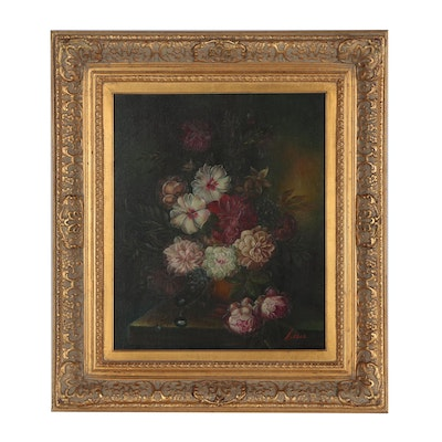 Floral Stil Life Oil Painting, Contemporary